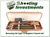 Browning A5 Light 12 70 Belgium 2-barrel set!