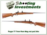 Ruger 77 Tang Safety Red Pad 7mm Rem Mag