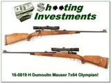 H Dumoulin High Grade FN Mauser 7x64 Browning Olympian engraved! - 1 of 4