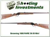 Browning 1885 rare 30-30 Win near new XX Wood 28in!