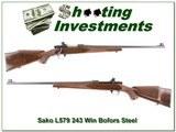 Sako L579 243 Bofors Steel MINT as NEW!