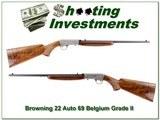 Browning 22 Auto 69 Belgium Grade II