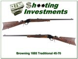 Browning 1885 Traditional Hunter 45-70 XX Wood 28in!
