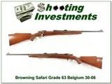 Browning Safari Grade 63 Belgium 30-06