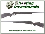 Weatherby Mark V original Fibermark 26in 270 Wthy Mag