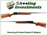 Browning A5 Sweet Sixteen 61 Belgium Exc Cond!