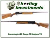 Browning A5 70 Belgium 20 Gauge VR Exc Cond