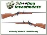 Browning Model 78 7mm Rem Octagonal Barrel like new
