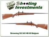 Browning Safari Grade 243 HB 65 Belgium!