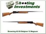 Browning A5 65 Belgium Magnum 12 Ga Collector!