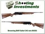 Browning BAR Safari II 243 BOSS RARE!