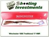 Winchester 1885 Rare Traditional Hunter 17 HMR NIB!