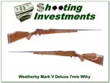 Weatherby Mark V Deluxe 7mm Wthy near new!