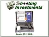 Beretta 87 TARGET 22 LR Pistol NIB