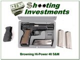 Browning HI-Power ANIC 40 S&W 5 Magazines!