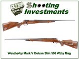 Weatherby Mark V Deluxe 26in 300 Wthy Mag