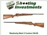Weatherby Mark V Custom 338-06 Beautiful Stock!