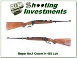 Highly Custom Ruger No.1 458 Lott