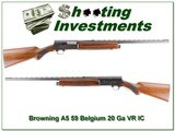 Browning A5 1959 Belgium 20 Ga 26 IC VR