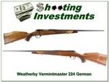 Weatherby Mark V Varmintmaster German 224 Wthy