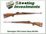 Remington 700 Custom Shop 458 Winchester Magnum!