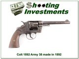 Colt DA 1892 Army 38 made in 1892 all matching