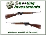 Winchester Model 1907 07 351 Caliber collector made in 1956! - 1 of 4
