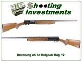 Browning A5 Magnum 12 Gauge 72 Belgium Exc Cond!