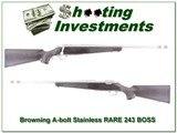 Browning A-bolt Stainless Stalker 243 RARE BOSS