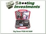 Sig Sauer P226 40 S&W in case w/ 4 Magazines