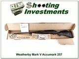 Weatherby Mark V Accumark 257 Wthy ANIB!