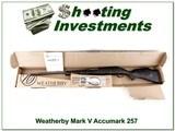 Weatherby Mark V Accumark 257 Wthy ANIB!