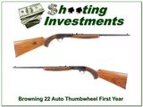 Browning 22 Auto Serial No 149 First Year Belgium!