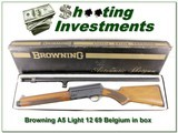 Browning A5 Light 12 69 Belgium Blond in box