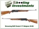 Browning BAR Grade II 71 Bwlgium 30-06