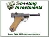 German Luger DWM 1916 9mm