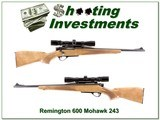 Remington 600 Mohawk in 243 Winchester w scope