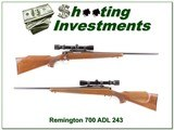 Remington 700 ADL older 243 with Redfield 2-7