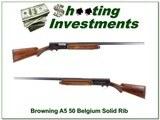 Browning A5 1951 Belgium 12 Ga Solid Rib