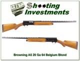 Browning A5 20 Ga 64 Belgium Blond!
