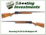 Browning A5 20 Gauge 68 Belgium XX Wood!