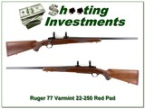 Ruger 77 Varmint 22-250 Red Pad Collector Cond!