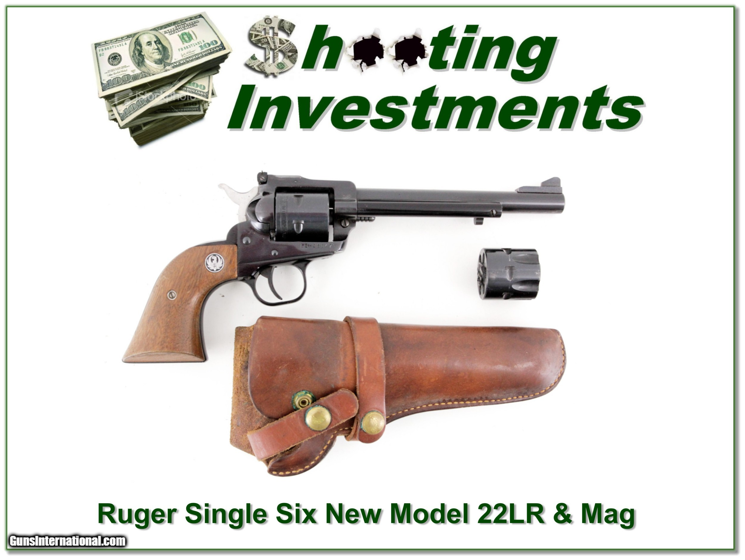 Ruger Single Six New Model Holster 22 and 22 Mag cylinders