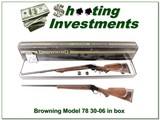Browning Model 78 30-06 Heavy Barrel in original box