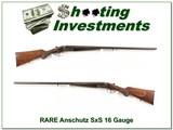 Anschutz SxS 16 Gauge 30in F & F rare!