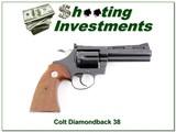 Colt Diamondback 38 Special 4in Exc Cond