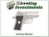 Colt Pony Pocketlite 380 Auto stainless