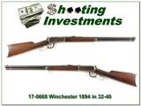 Winchester 1894 32-40 made in 1902!