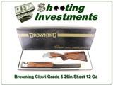 Browning Citori Grade 5 collector ANIB 12 Ga Skeet