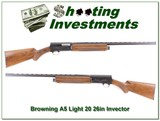Browning A5 Light 20 26in Invector very nice!